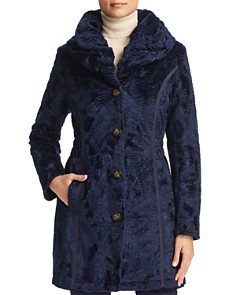 Laundry by Shelli Segal - Reversible Faux Shearling & Quilted Coat