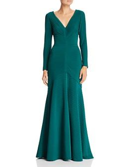 Tadashi Shoji - Pintuck Pleated Gown
