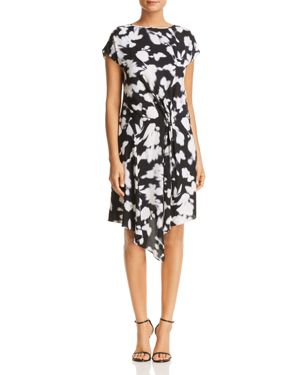 Kenneth Cole Gathered Front Floral Print Dress 3070316
