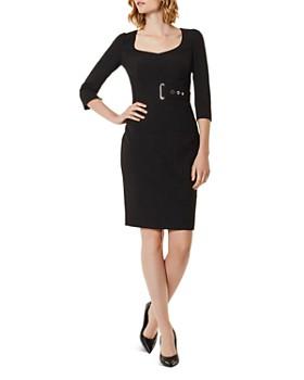 KAREN MILLEN - Corset Belt Detail Sheath Dress
