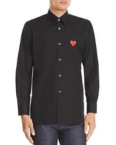 Comme Des Garcons PLAY Heart Appliqué Slim Fit Shirt - Bloomingdale's_0