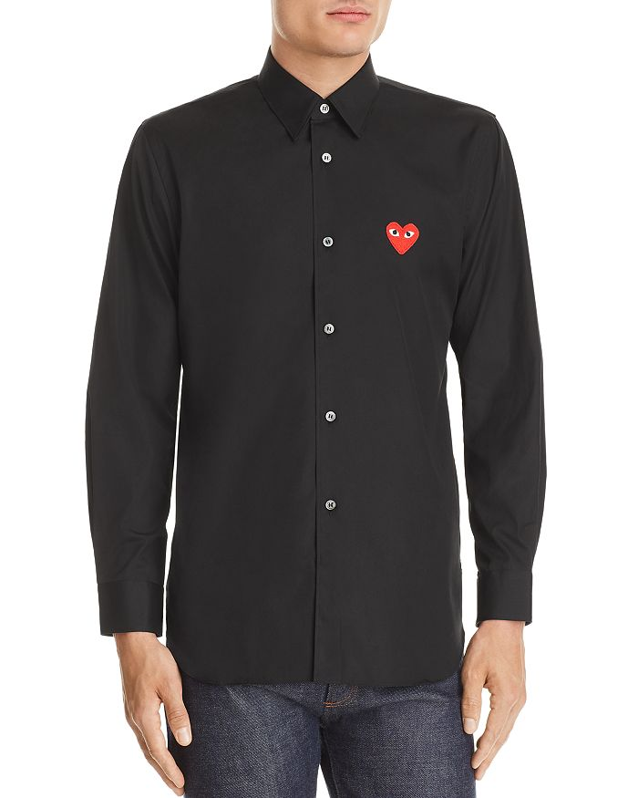Comme Des Garcons PLAY - Heart Appliqué Slim Fit Shirt
