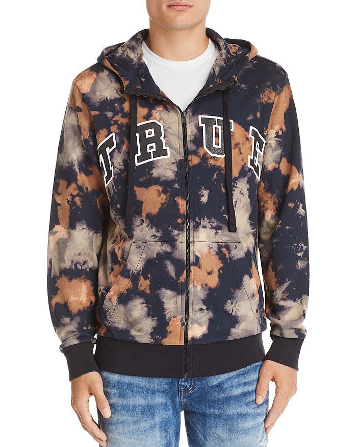 Arched Logo Tie Dyed Hoodie