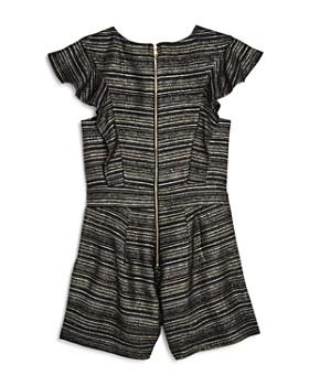 Miss Behave - Girls' Reece Metallic-Striped Jacquard Romper - Big Kid