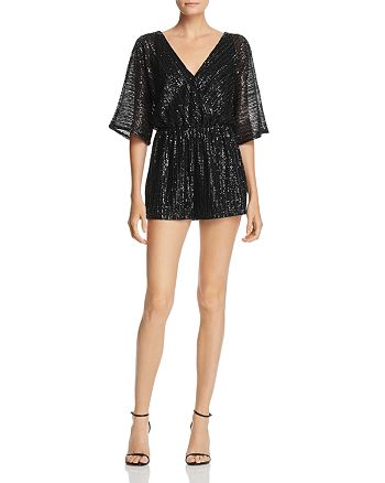 BB DAKOTA - Sequin Dolman Sleeve Romper