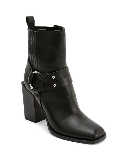 Dolce Vita - Women's Isara Leather Harness Block Heel Booties