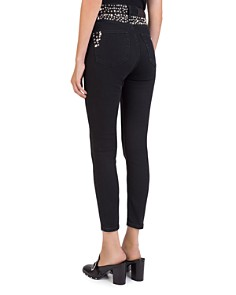 The Kooples - Studded Cropped Slim Jeans in Black