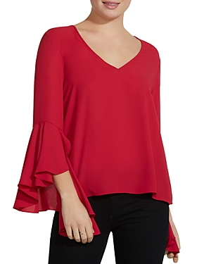 Bailey 44 Tatyana Bell-Sleeve Georgette Top