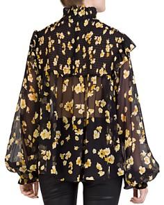 The Kooples - Silk Smocked Floral-Print Top