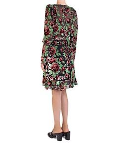 The Kooples - Rose Burnout Velvet Wrap Dress