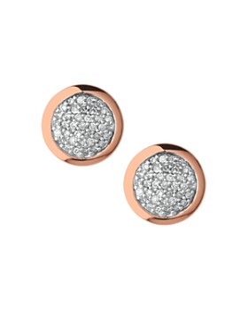 Links of London - Diamond Essentials Round Pavé Diamond Stud Earrings