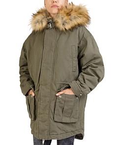 The Kooples - Faux-Fur-Trim Hooded Parka