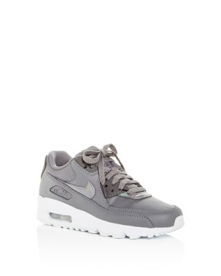 Girls' Air Max 90 Leather Lace Up Sneakers   Big Kid by Nike