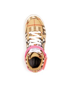 Burberry - Girls' Groves Vintage Plaid High-Top Sneakers - Toddler, Little Kid