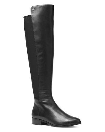 b570c6c4b18 MICHAEL Michael Kors Women's Bromley Leather & Stretch Tall Boots ...