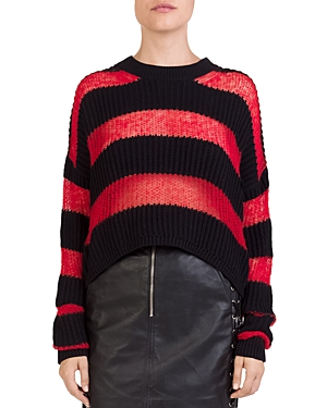 The Kooples Striped Cropped Sweater
