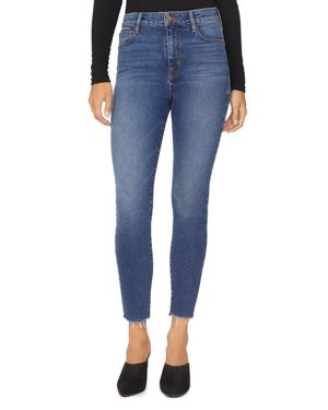 Social High Rise Ankle Jeans In Arena Blue