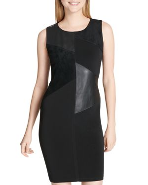 Calvin Klein Mixed Media Patchwork Dress 3075792