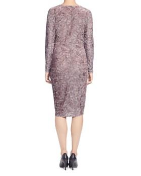T Tahari - Animal Print Velvet Twist Dress
