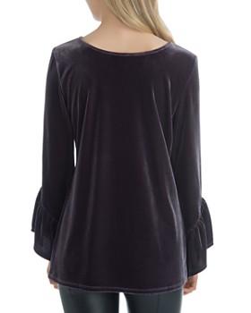 Lyssé - Bell-Sleeve Velvet Tunic Top