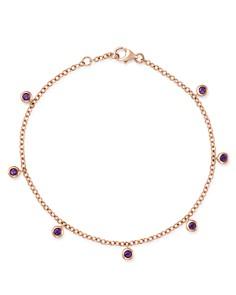Bloomingdale's - Amethyst Station Dangle Bracelet in 14K Rose Gold - 100% Exclusive