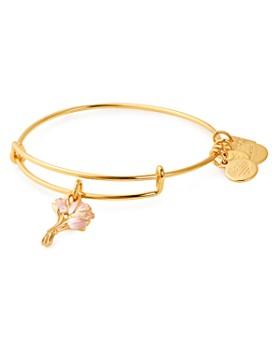 Alex and Ani - Pink Tulips Expandable Charm Bracelet