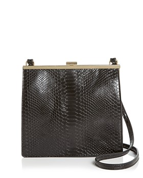 Street Level - Snake-Embossed Frame Crossbody