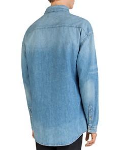 The Kooples - Oversized Faded Denim Shirt