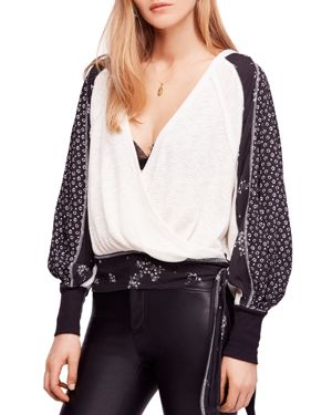 Free People Auxton Mixed-Media Top