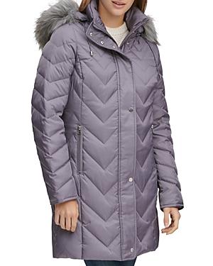Marc New York Roxbury Matte Satin Chevron Puffer Coat