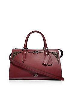 COACH - x Selena Gomez Bond Crystal-Embellished Leather Satchel