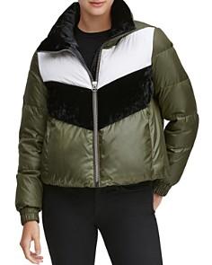 Marc New York - Bedford Chevron Puffer Coat