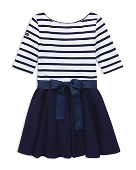 Ralph Lauren - Girls' Contrast Striped Dress - Big Kid