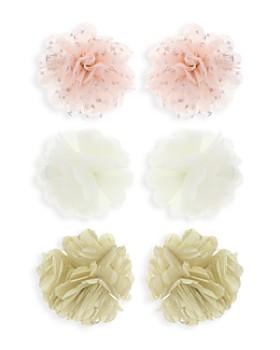 Capelli - Girls' Flower Clips, Set of 6