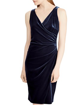 Ralph Lauren - Velvet Faux-Wrap Dress - 100% Exclusive