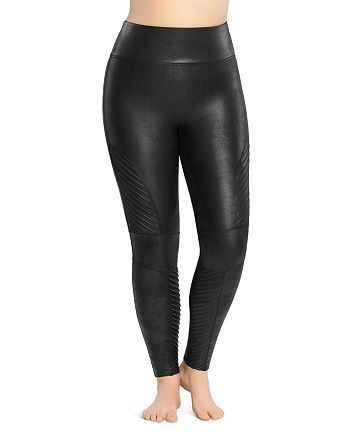 SPANX® - Plus Moto Faux-Leather Leggings