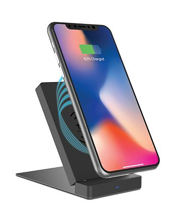 Tzumi - Multi-Angle Desk Mount with Wireless Charger