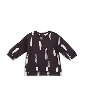 Miles Baby - Girls' French Terry Paint Stroke Top - Baby