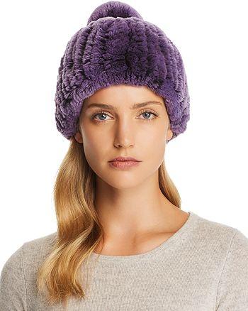 Maximilian Furs - Knit Rabbit Fur Hat