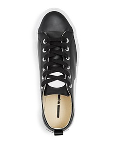 McQ Alexander McQueen - Men's Plimsoll Leather Lace Up Platform Sneakers