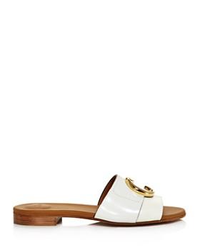 Chloé - Women's Logo Slide Sandals