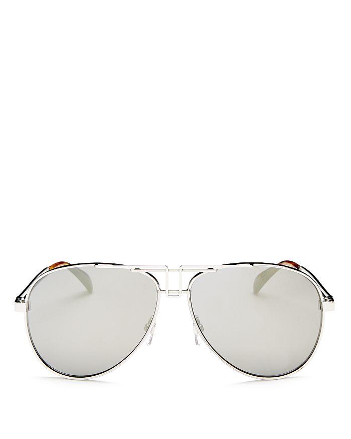 8fe64d1e94c7 Givenchy - Women s Mirrored Brow Bar Aviator Sunglasses