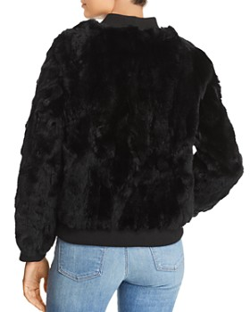 525 America - Real Rabbit Fur Bomber Jacket - 100% Exclusive