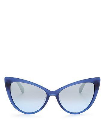 kate spade new york - Women's Karina Mirrored Cat Eye Sunglasses, 56mm