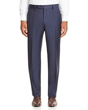Luigi Bianchi - Bianchi Mélange Tic-Weave Regular Fit Dress Pants - 100% Exclusive