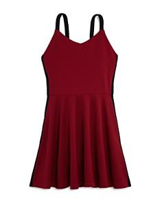 AQUA - Girls' Textured Side-Stripe Dress, Big Kid - 100% Exclusive