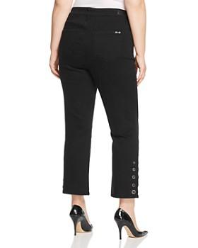 Seven7 Jeans Plus - Grommet-Trim Bootcut Ankle Jeans in Abbys Black