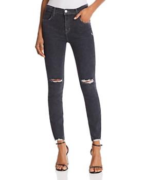 J Brand - Alana High Rise Crop Skinny Jeans in Ashes Destruct