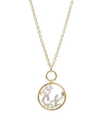 """AQUA - Baguette Open Pendant Necklace, 36"""" - 100% Exclusive"""