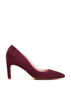 Taryn Rose - Women's Gabriela Suede Pointed Toe Pumps